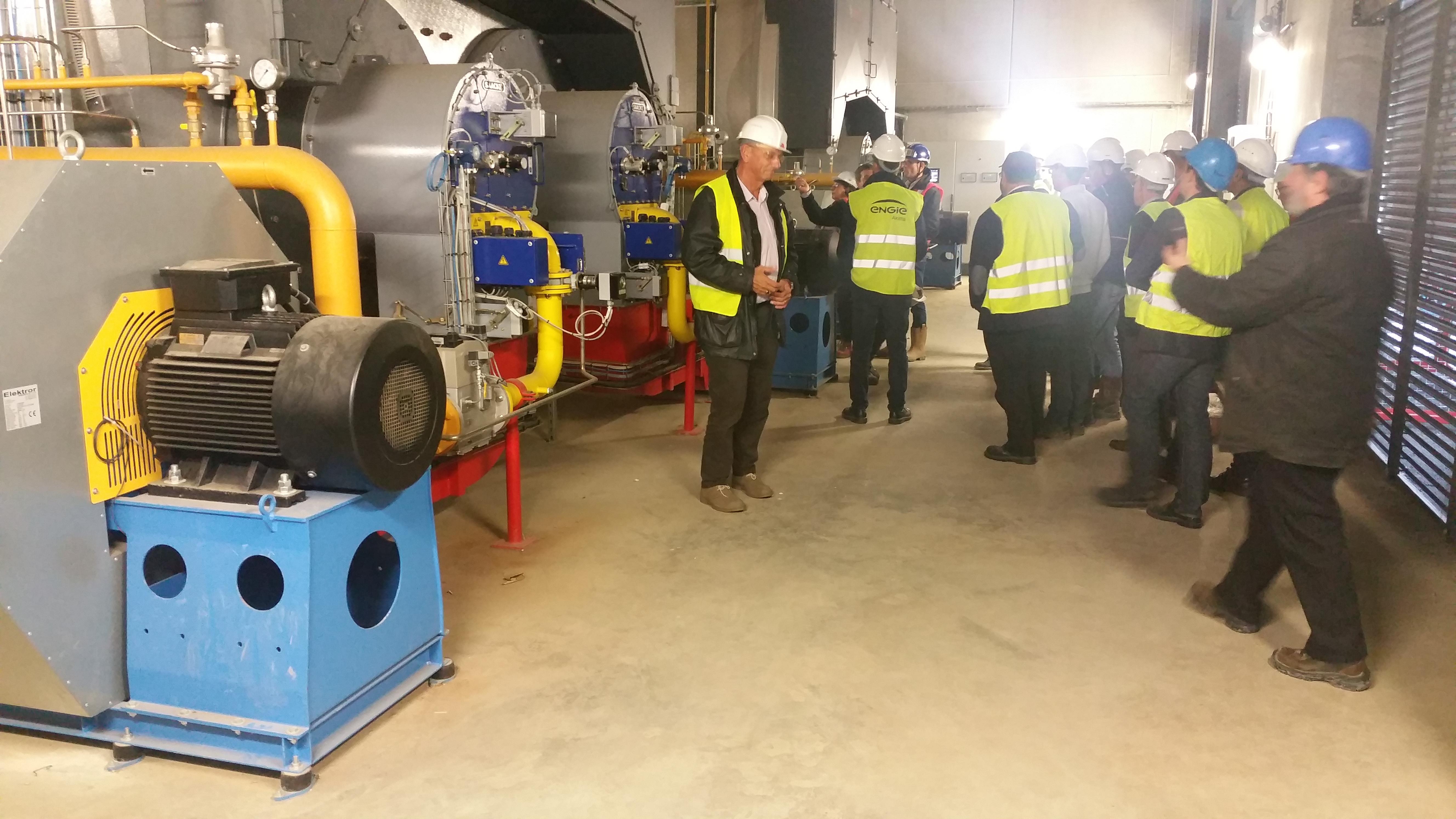 RT 27/10/2016 : Visite de la chaufferie bois/gaz ERENA de 150MW à Nantes