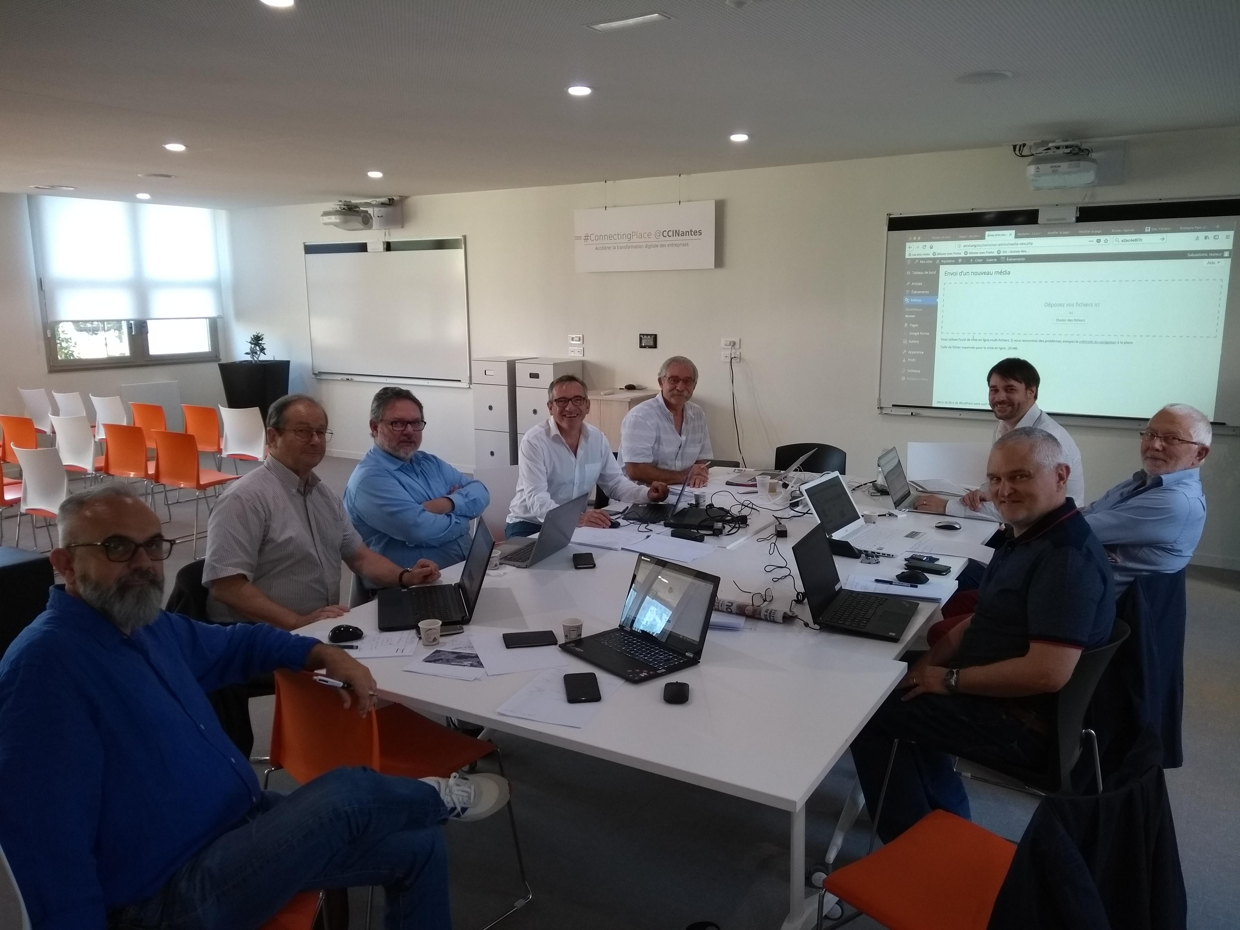 Les WebMasters régionaux en formation à Nantes le 20 juin 2018