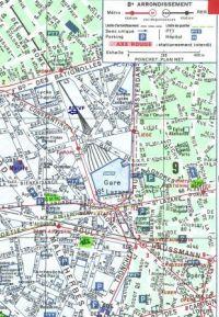 Plan Paris 8ème AICVF