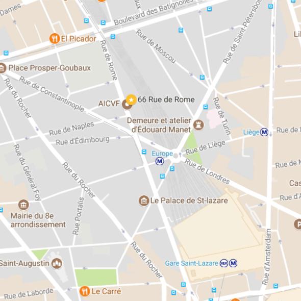 Plan 66 rue de Rome