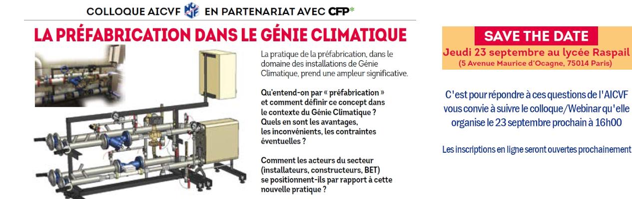 Colloque AICVF -La préfabrication dans le génie climatique