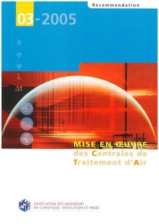 Recommandation 03-2005 - Mise en en oeuvre des CTA