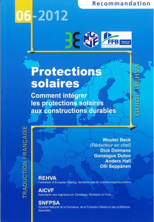 Recommandation 06-2012 - Protections solaires