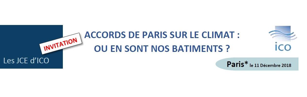 ACCORDS DE PARIS SUR LE CLIMAT : OU EN SONT NOS BÂTIMENTS ?