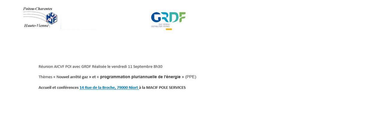 CR REUNION AICVF POI 11 SEPTEMBRE 2020 NOUVEL ARRETE GAZ  & PPE