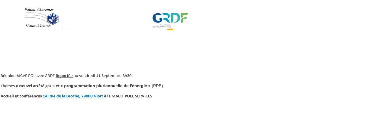 REUNION AICVF POI 3 AVRIL 2020 NOUVEL ARRETE GAZ  & PPE FIXEE au 11 SEPTEMBRE 2020