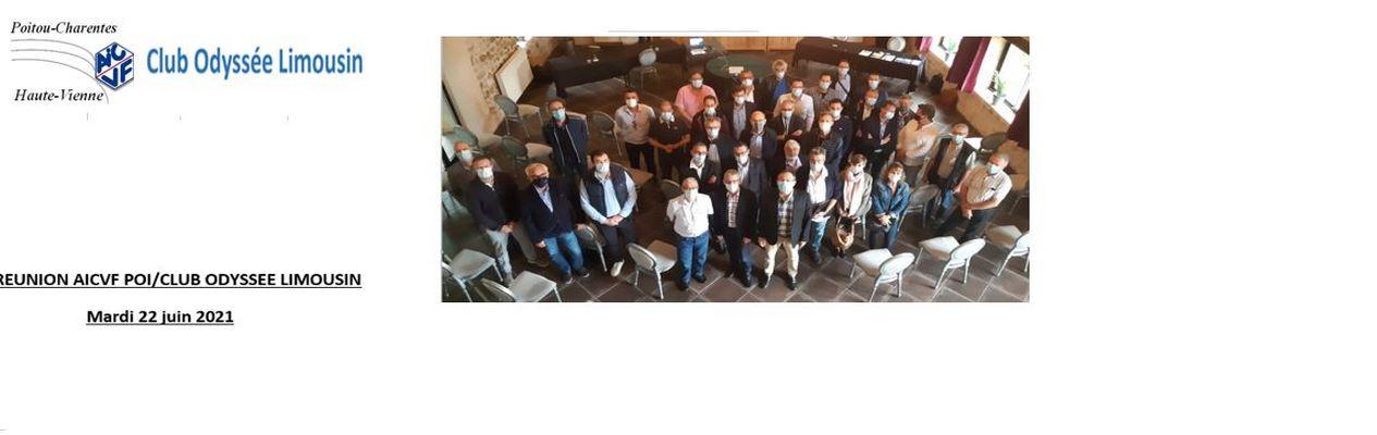 CR REUNION AICVF POI/CLUB ODYSSEE LIMOUSIN LIMOGES 22 JUIN 2021