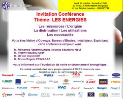 Invitation Réunion techniques Le energies