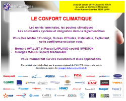 01 2015 Invitation Le confort climatique